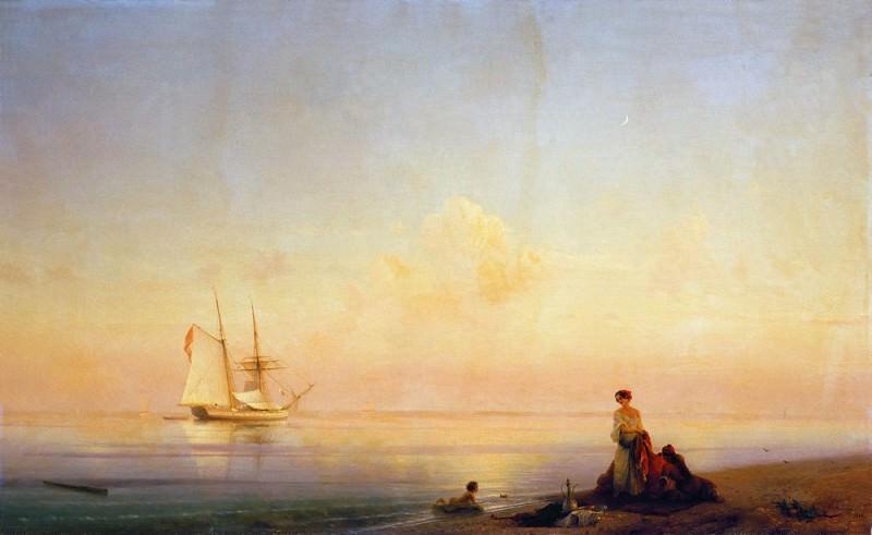 Seashore. Calm 1843 114h187. Ivan Konstantinovich Aivazovsky
