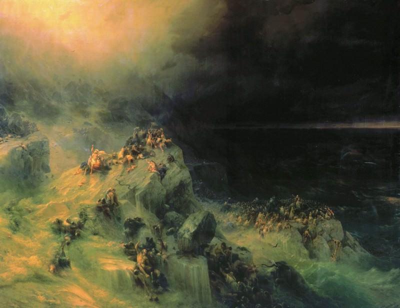 Всемирный потоп 1864 246,5х319,5. Иван Константинович Айвазовский
