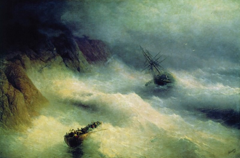 Storm at Cape Aiya 1875. Ivan Konstantinovich Aivazovsky