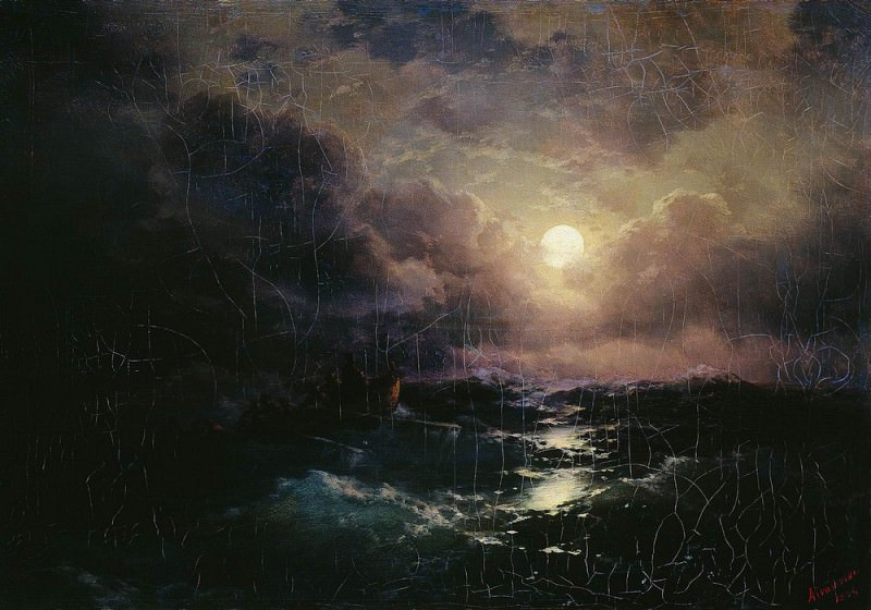 After the storm. Moonrise 1894 41h58. Ivan Konstantinovich Aivazovsky