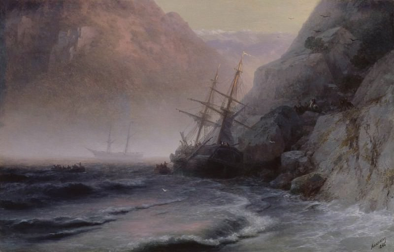 1884 Smugglers 62,5 h98. Ivan Konstantinovich Aivazovsky