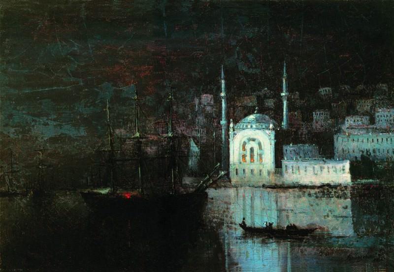 Night Constantinople 1886 25h37. Ivan Konstantinovich Aivazovsky