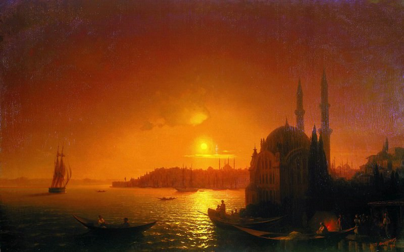 Type of Constantinople in the moonlight 124h192 1846, 5. Ivan Konstantinovich Aivazovsky