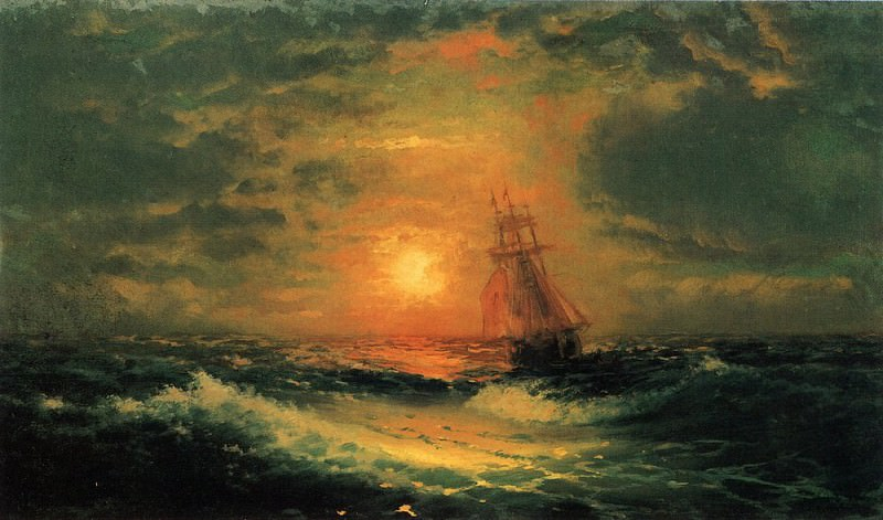 Sunset at Sea 1851 39h67. Ivan Konstantinovich Aivazovsky