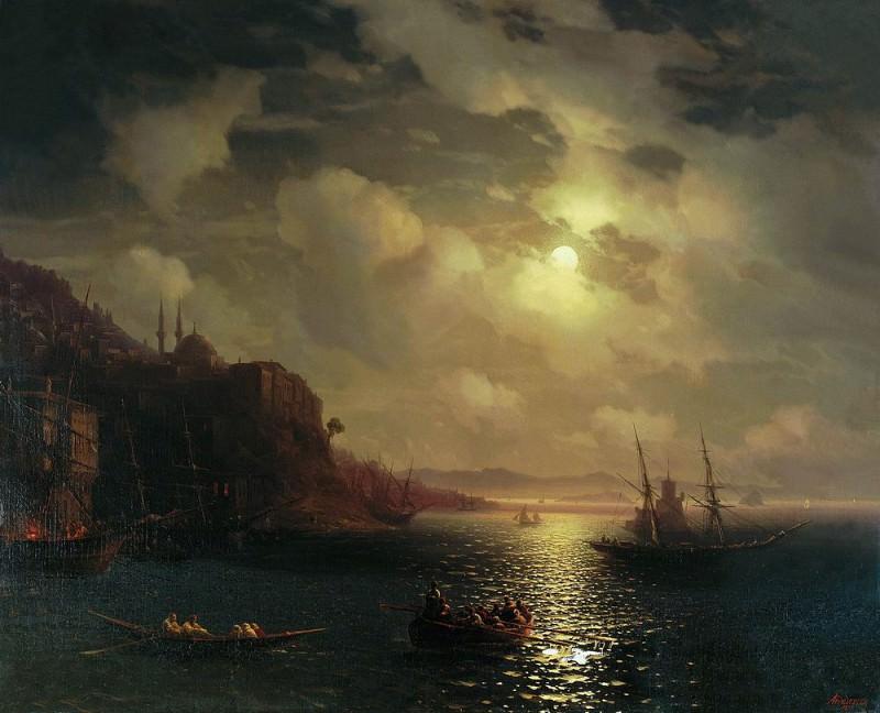 Golden Horn. Bosphorus 1872 83h104. Ivan Konstantinovich Aivazovsky