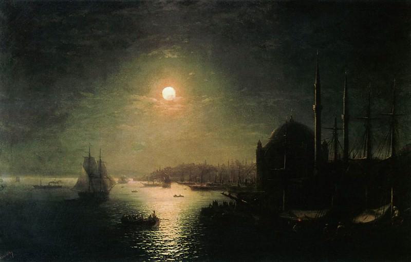 Лунная ночь в Константинополе 1884 81х116. Иван Константинович Айвазовский