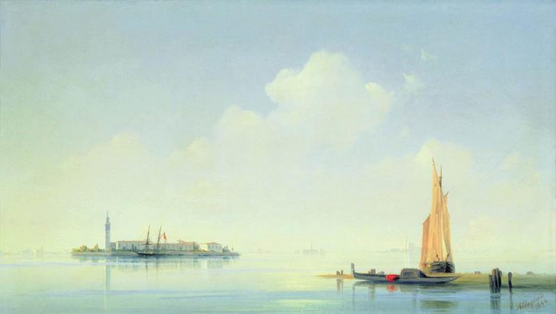 Venetian Lagoon. View on the island of San Giorgio 1844 22,5 x34, 5. Ivan Konstantinovich Aivazovsky