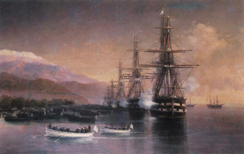 Marines in Subashi 1880 277h358. Ivan Konstantinovich Aivazovsky