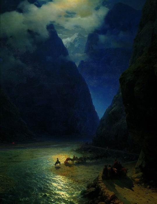 Darial Gorge 133h107 1862. Ivan Konstantinovich Aivazovsky