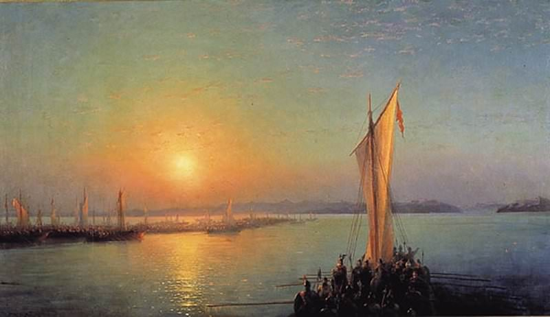 Varangian saga - the way of the Vikings to the Greeks 1876 132h235. Ivan Konstantinovich Aivazovsky