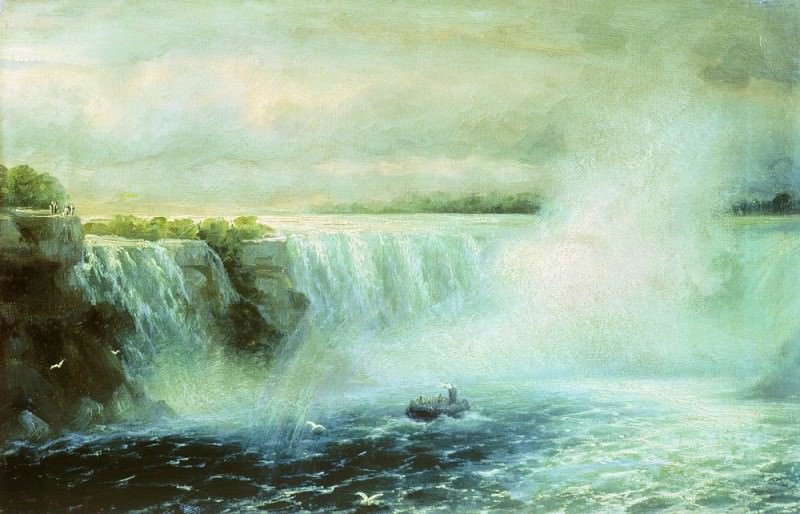 Ниагарский водопад 1893 35х52. Иван Константинович Айвазовский