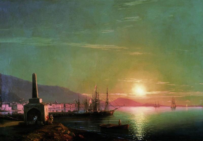 Восход солнца в Феодосии 1855 82х117. Иван Константинович Айвазовский