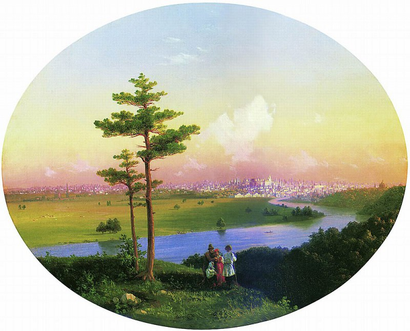View on Moscow from Sparrow Hills 1848 40h51. Ivan Konstantinovich Aivazovsky