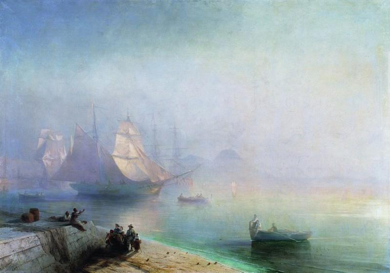 Неаполитанский залив в туманное утро 1874 148х214. Иван Константинович Айвазовский