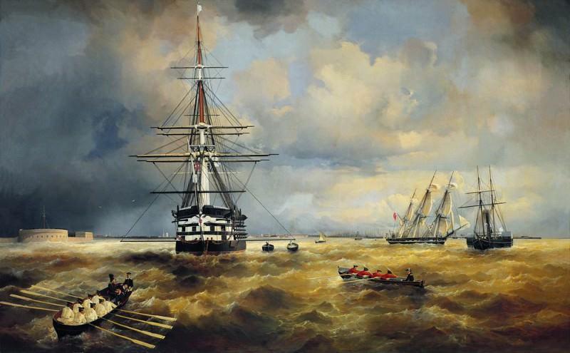 Kronstadt raid 1840 124h199. Ivan Konstantinovich Aivazovsky