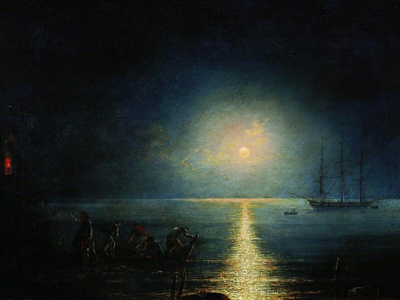 Smugglers 1890 45h59. Ivan Konstantinovich Aivazovsky