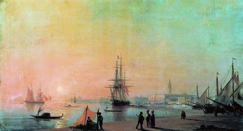 Морской вид 1855 95х142,5. Иван Константинович Айвазовский
