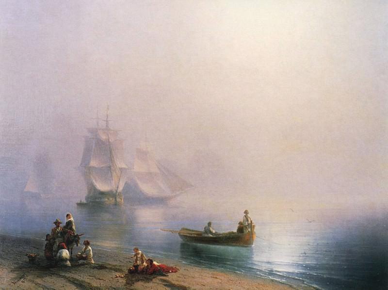 Morning in the Bay of Naples in 1873 70,4 h95. Ivan Konstantinovich Aivazovsky