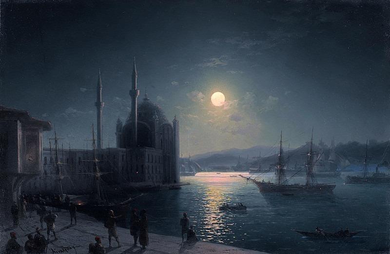 Лунная ночь на Босфоре. Иван Константинович Айвазовский