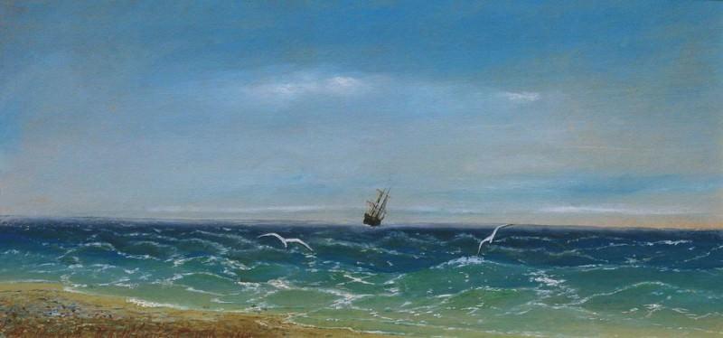Sailing in the sea 1881. Ivan Konstantinovich Aivazovsky