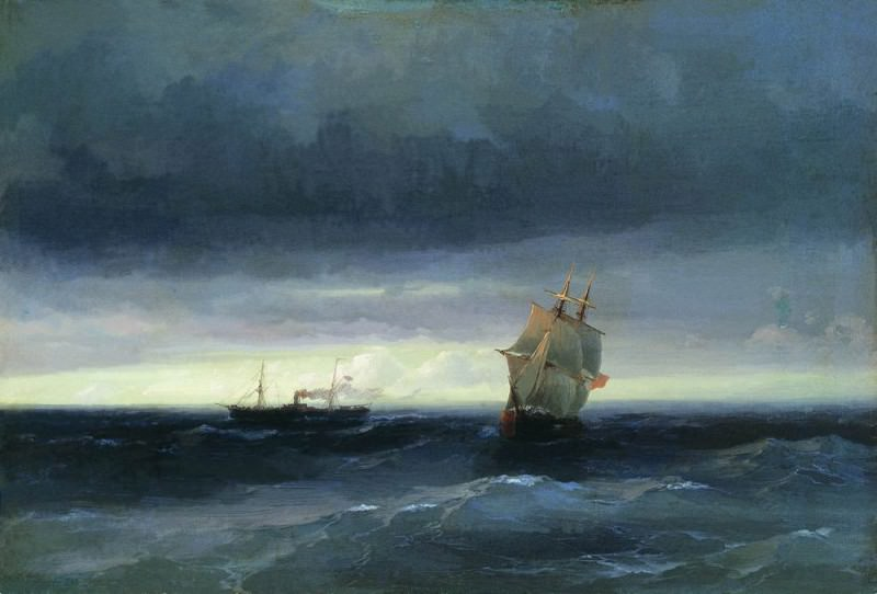Sea 1882 32h47. Ivan Konstantinovich Aivazovsky