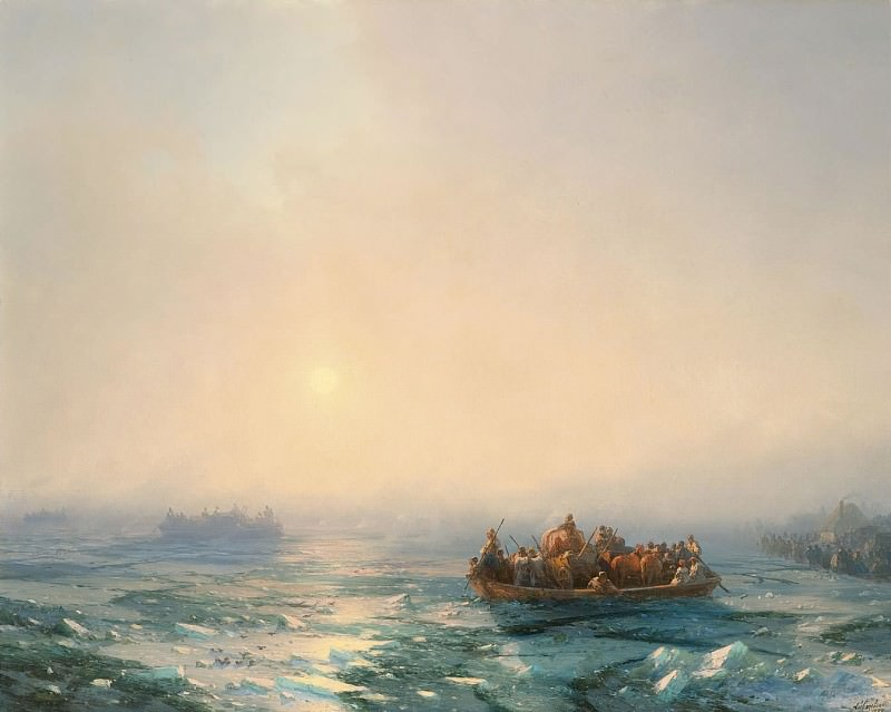 Frost on the Dnieper River in 1872. Ivan Konstantinovich Aivazovsky