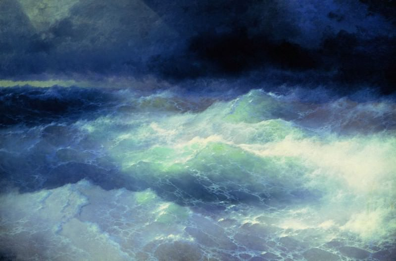 Among the Waves 1898 284h429. Ivan Konstantinovich Aivazovsky