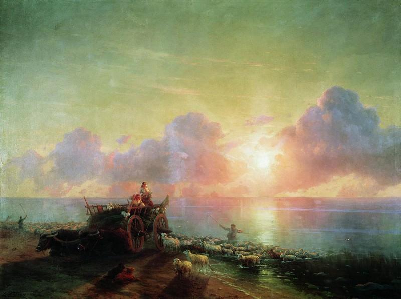 Купание овец 1878 211х282. Иван Константинович Айвазовский