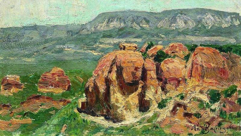 Red Rocks in Kislovodsk. 1895. Apollinaris M. Vasnetsov