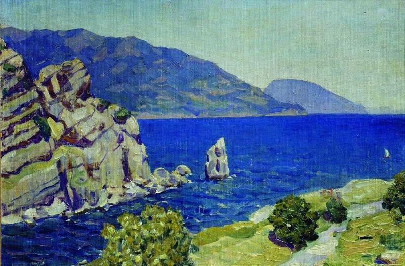 Вид из Ласточкиного гнезда. Крым. 1924. Аполлинарий Михайлович Васнецов