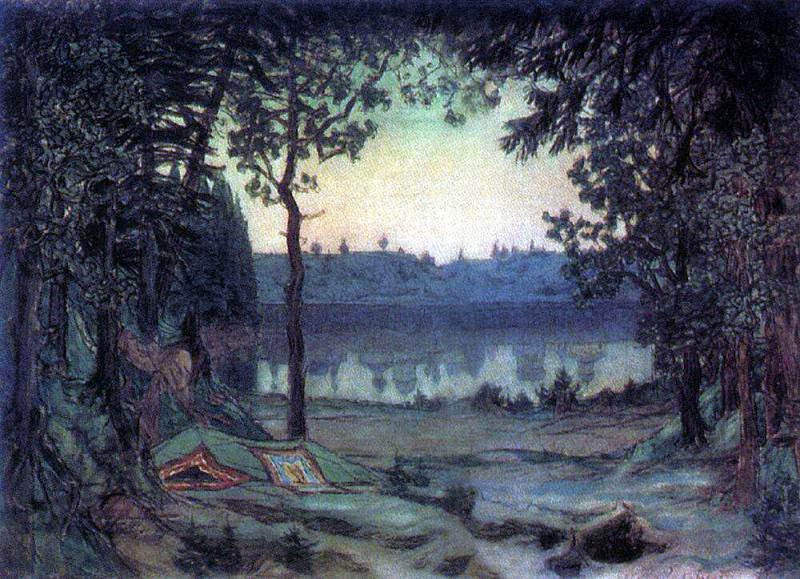 Lake Svetloyar. 1906. Apollinaris M. Vasnetsov