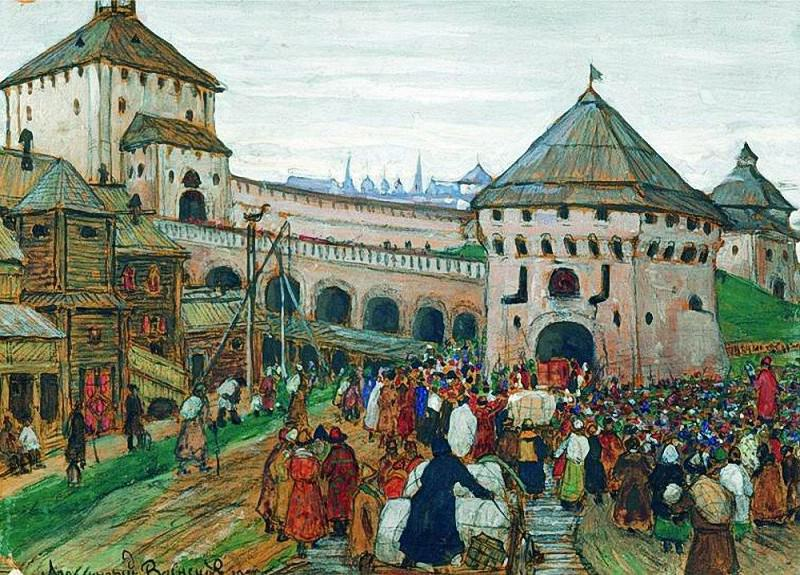 old Moscow. 1896. Apollinaris M. Vasnetsov