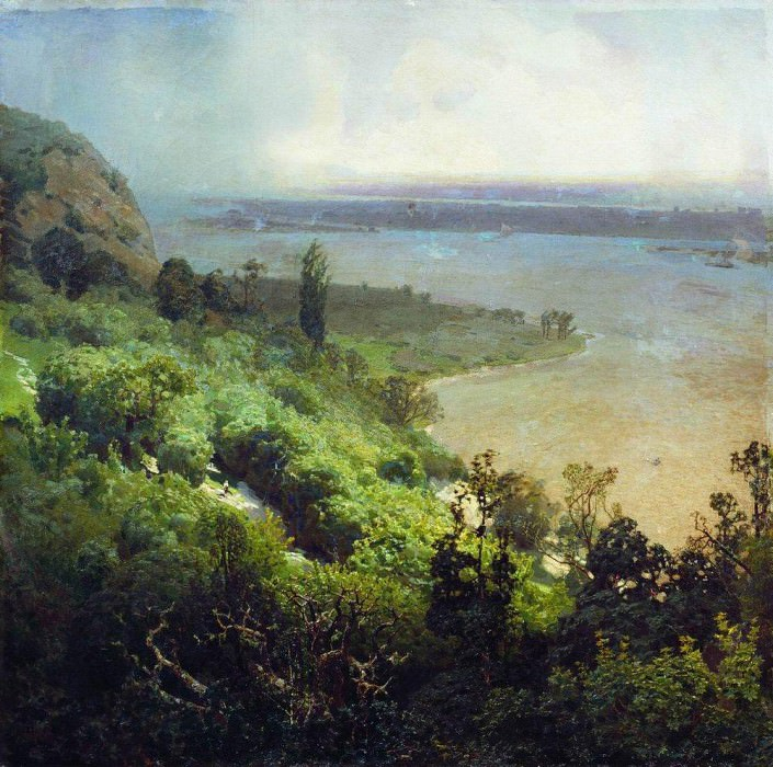 Dnipro before the storm. 1888. Apollinaris M. Vasnetsov
