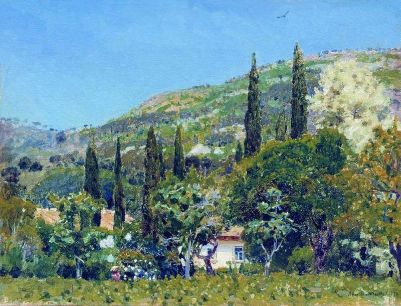 Crimean landscape. 1890. Apollinaris M. Vasnetsov