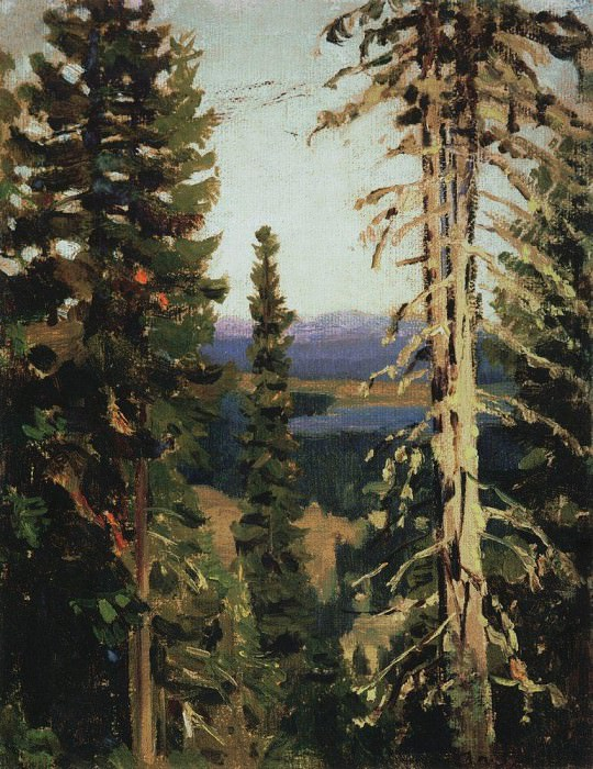 Forest at Mount Grace. Middle Urals. 1890. Apollinaris M. Vasnetsov