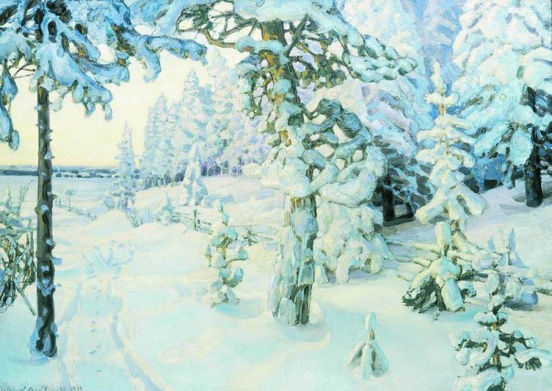 Winter Dream (Winter). 1908-1914. Apollinaris M. Vasnetsov