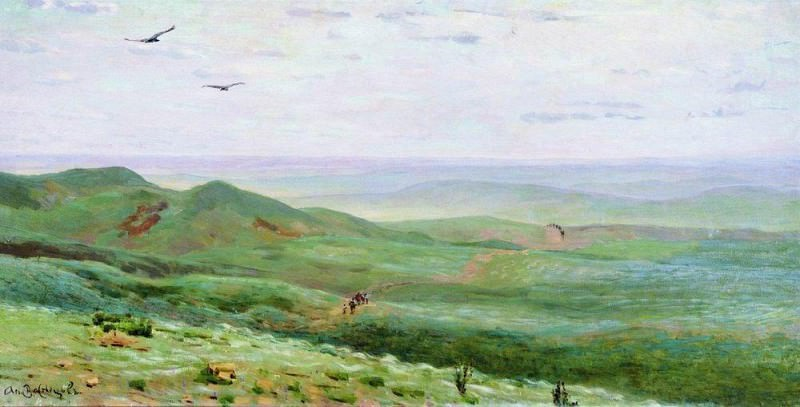 Orenburg steppe. 1893. Apollinaris M. Vasnetsov