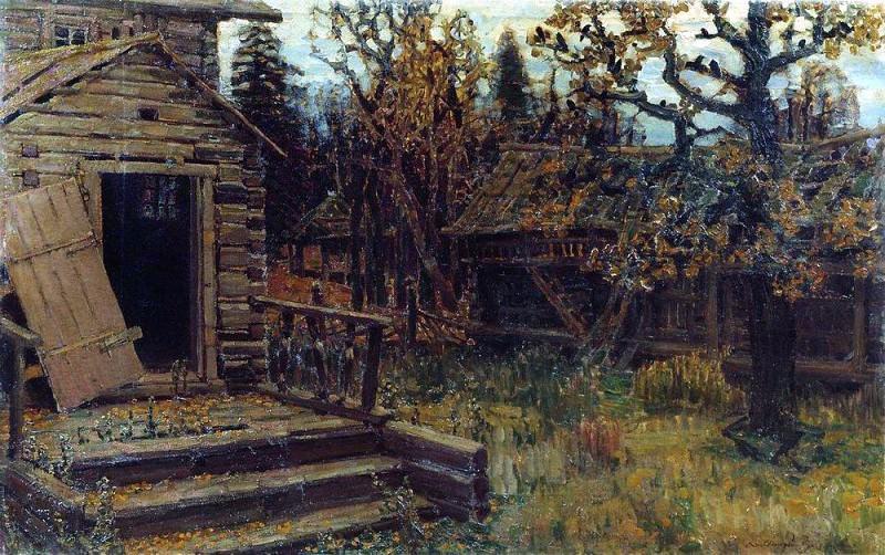 Abandoned mansion. 1901. Apollinaris M. Vasnetsov