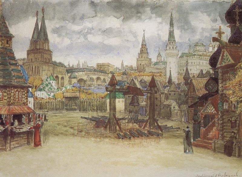 Musketeers District. 1897. Apollinaris M. Vasnetsov