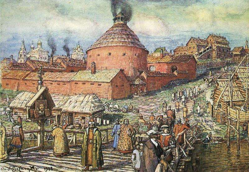 cannon-foundry Neglinnaya River in the XVII century. 1918. Apollinaris M. Vasnetsov