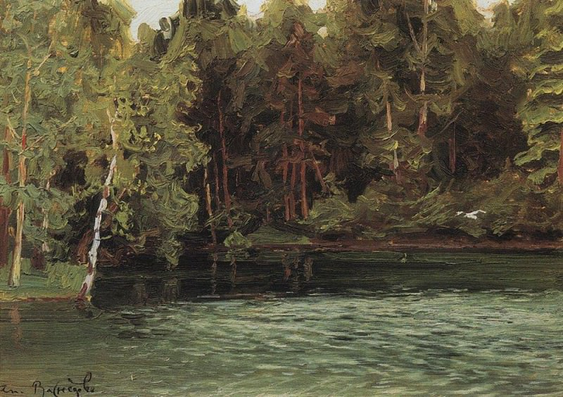 Royal pond. Demyanovo. 1903-1917. Apollinaris M. Vasnetsov