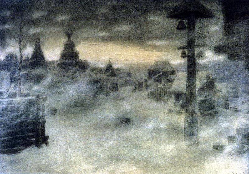 Вьюжит. Метель. Старая Москва. 1904. Аполлинарий Михайлович Васнецов