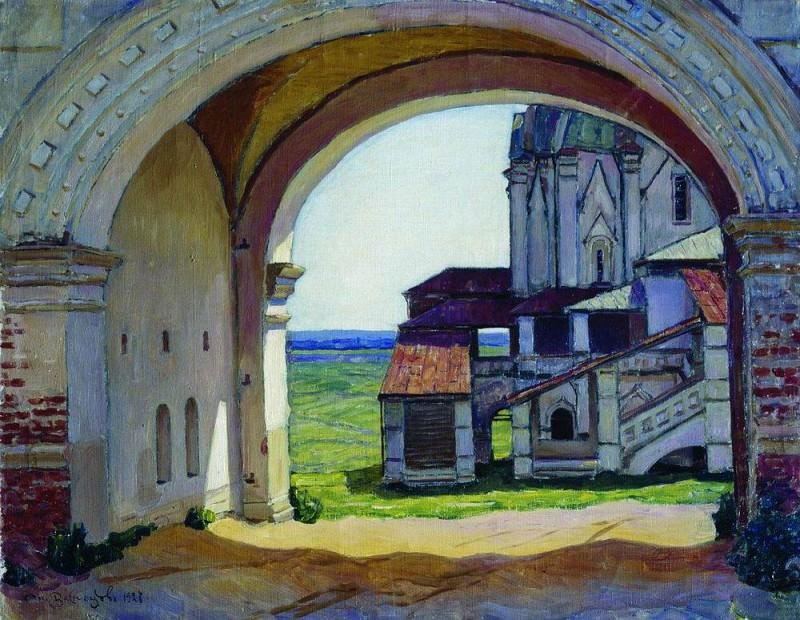 Коломенское. Ворота башни Часозвон. 1927. Аполлинарий Михайлович Васнецов