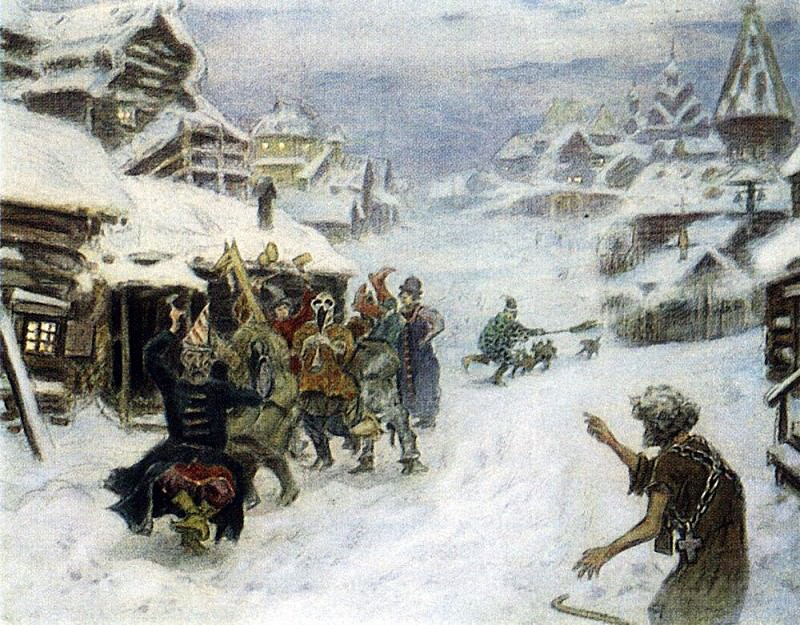 buffoons. 1904. Apollinaris M. Vasnetsov