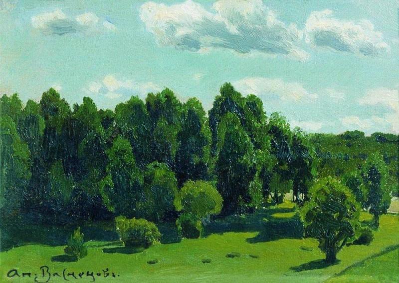 Летний пейзаж. 1902. Аполлинарий Михайлович Васнецов