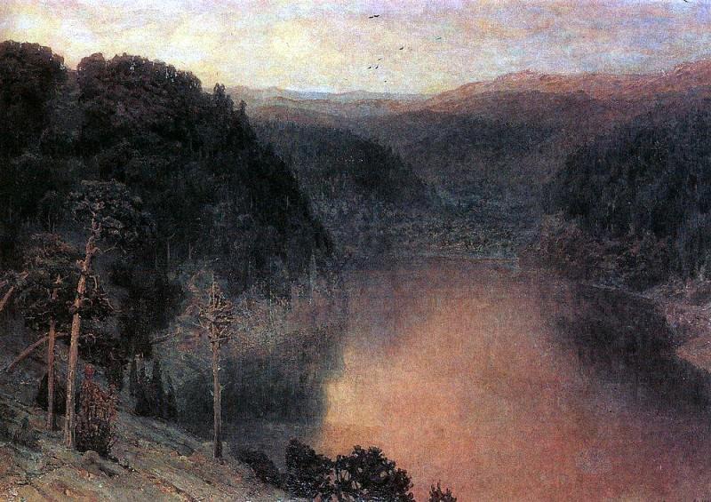 Mountain Lake. Ural. 1892. Apollinaris M. Vasnetsov