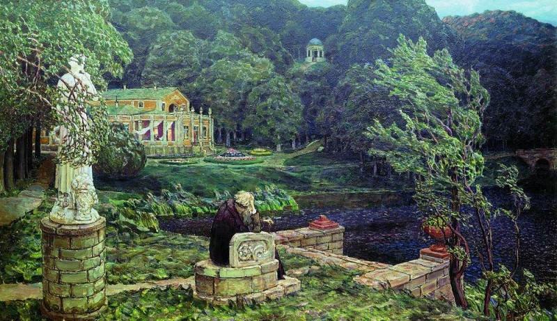 Noise old park. 1926. Apollinaris M. Vasnetsov