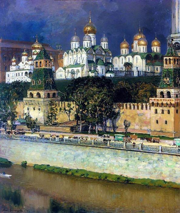 Moscow Kremlin. Cathedrals. 1894. Apollinaris M. Vasnetsov