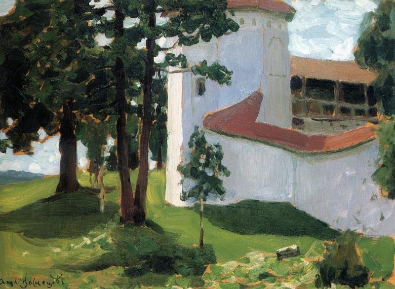 Валдайский монастырь. 1901. Аполлинарий Михайлович Васнецов
