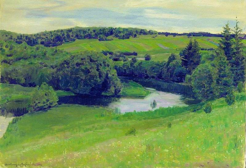 Northern landscape. 1902. Apollinaris M. Vasnetsov